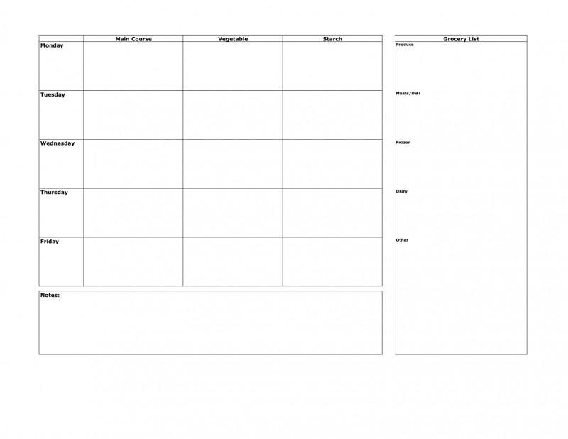 Recipe Card Design Template New Dinner Menu Planner Template