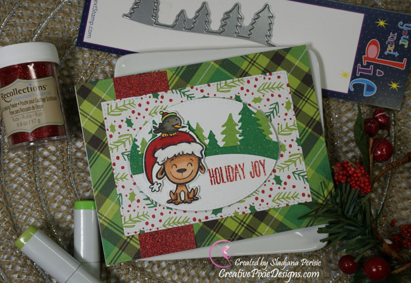 Recollections Card Template New Your Next Stamp Holiday Buddies Copic Colored Christmas