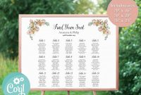 Recollections Card Template Unique Floral Editable Wedding Seating Chart Template Corjl