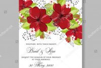 Remembrance Cards Template Free Unique Floral Red Anemone Wedding Invitation Card Stock Vector
