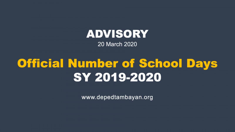 Report Card Template Middle School Unique Advisory On The Official Number Of School Days Sy 2019 2020
