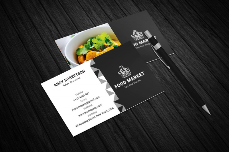 Restaurant Business Cards Templates Free New Food Shop Business Card Creative Daddy