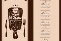 Restaurant Business Cards Templates Free New Restaurant Menu Template Free Addictionary