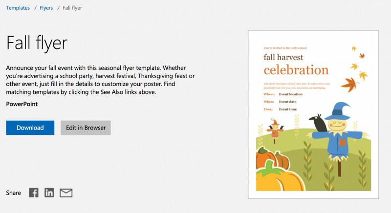 Reunion Invitation Card Templates Awesome Free Autumn Theme Templates For Microsoft Office