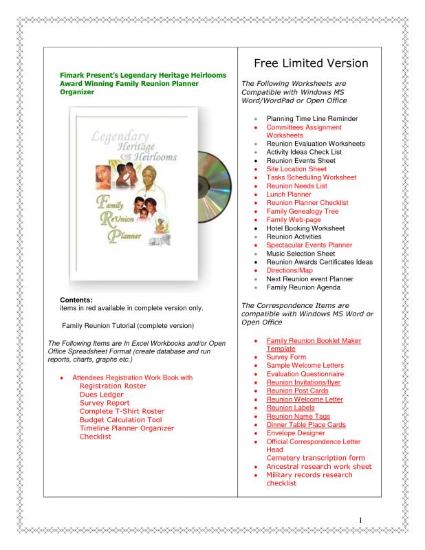 Reunion Invitation Card Templates Unique Family Reunion Budget Worksheet Template Free Spreadsheet Sheet