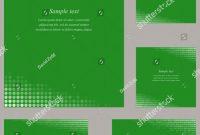 Sample Of Id Card Template Unique Green Page Corner Design Template Invitation Stock Vector