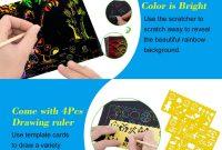 Scratch Off Card Templates New Nashrio 50 Blatt Scratch Art Crafts Fa¼r Kinder Black Magic