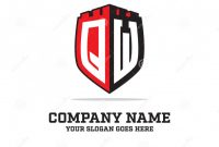 Shield Id Card Template New Q W Initial Logo Designs Shield Logo Template Letter Logo