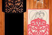 Silhouette Cameo Card Templates New sobre De La Boda Tarjeta Plantilla Arabescos Figuras