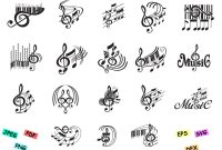 Silhouette Cameo Card Templates Unique Notes Music Setnotes Template Notes Svg Notes Cards Cricut Music Svg Bundle Music Svg Files Notes Music Note Svg Music Svg Cricut