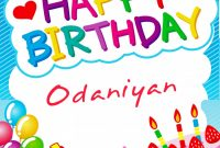 Small Greeting Card Template Awesome Birthday Images for Odaniyan Generator 2020
