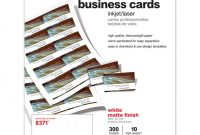 Social Security Card Template Download Awesome Office Depota Brand Matte Business Cards 2 X 3 1 2 White Pack Of 300 Item 717631