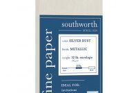 Southworth Business Card Template Awesome southworth Metallic Envelope 10 Silver 25pk Office Depot