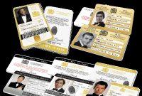 Spy Id Card Template New James Bond 007 Inspired Secret Intelligence Service Id