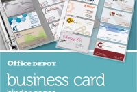 Staples Business Card Template Unique Office Depot Brand Business Card Binder Pages 8 12 X 11