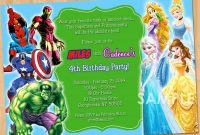 Superhero Birthday Card Template New 35 Superhero Party Invitation Template Free In 2020