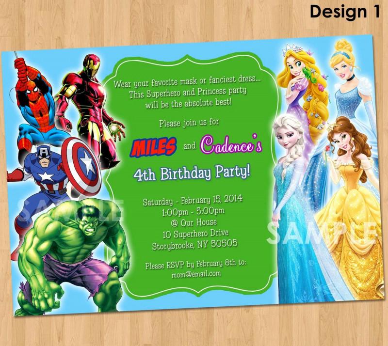 Superhero Birthday Card Template New 35 Superhero Party Invitation Template Free In 2020