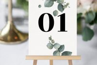 Table Number Cards Template Unique Pin On Wedding Invites Cards Shop