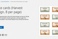 Table Place Card Template Free Download New Free Autumn theme Templates for Microsoft Office