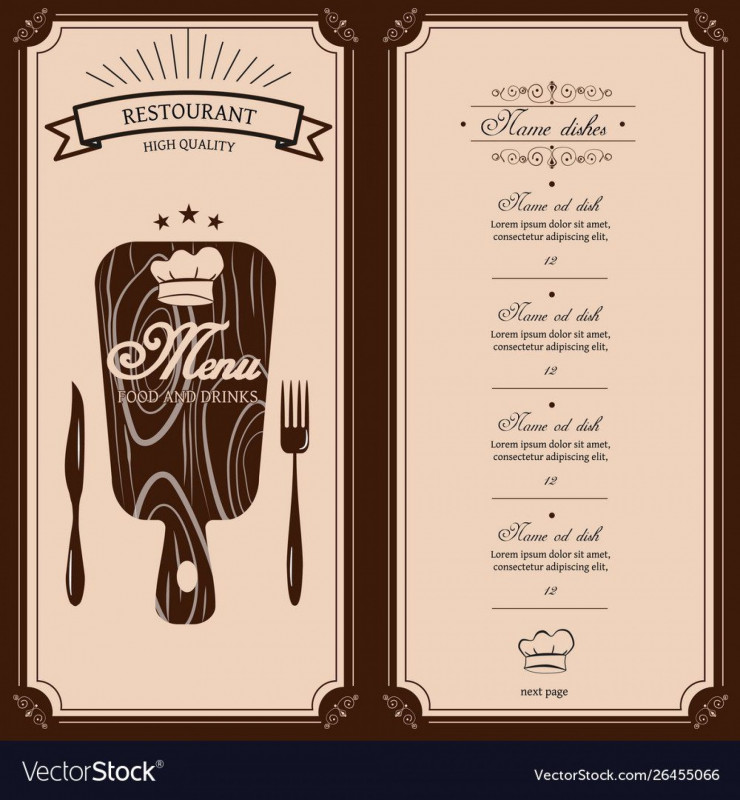 Table Reservation Card Template Unique Restaurant Menu Template Free Addictionary