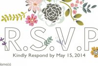 Template for Rsvp Cards for Wedding Awesome How to Word Your Rsvps