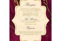 Template for Rsvp Cards for Wedding Unique Dramatic Burgundy Cream with Simulated Gold Marble Wedding Invitation Monogrammed