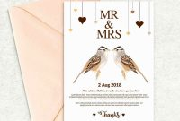 Template for Wedding Thank You Cards Awesome Tying the Knot Wedding Invitation Templates