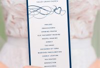 Template for Wedding Thank You Cards Awesome Wedding Program Template Beloved Navy Dusty Blue or Any