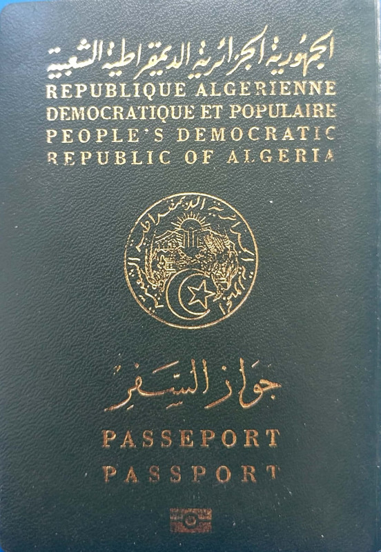 Texas Id Card Template New Visa Requirements For Algerian Citizens Wikipedia