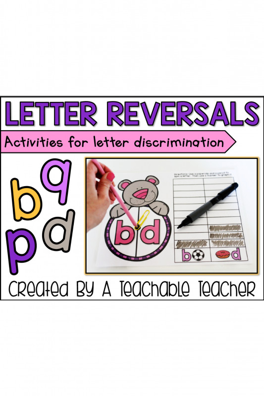 Thank You Card For Teacher Template New Letter Reversals Activities For Letter Discrimination A Teachable Teacher