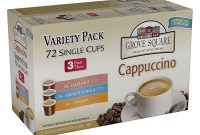 Thanks A Latte Card Template New Grove Square Cappuccino Variety Pack 72 Single Serve Cups