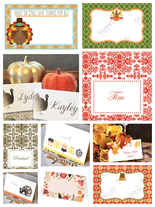 Thanksgiving Place Cards Template New Top 25 Thanksgiving Place Cards Partyideapros Com