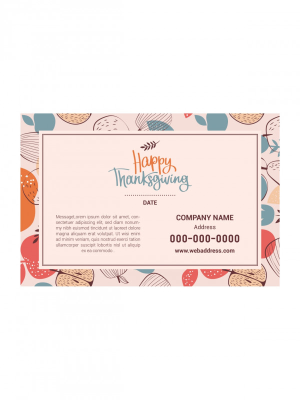 Thanksgiving Place Cards Template Unique Office Depot