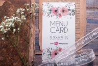 Three Fold Card Template Awesome Free Menu Card Mockup Psd