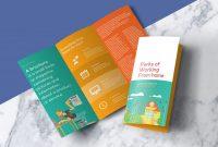Three Fold Card Template Unique Free Tri Fold Template Addictionary