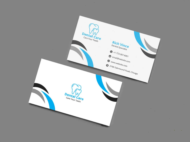 Visiting Card Template Psd Free Download Unique Dentist Business Card Template