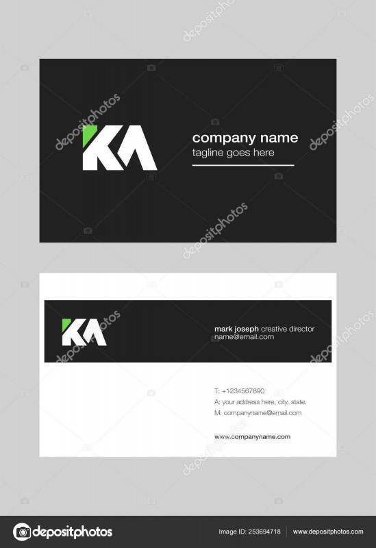 Visiting Card Templates Download Awesome Logo Joint Business Card Template Vector Stock Vector