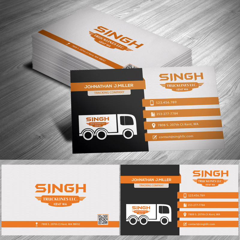 Visiting Card Templates For Photoshop New Masculine Upmarket Trucking Company Business Card Design