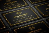 Visiting Card Templates Psd Free Download New Black and Gold Business Card Template Psd Free Vincegray2014
