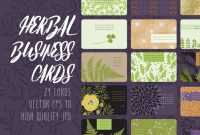 Web Design Business Cards Templates Awesome Herbal Business Cards Creative Daddy