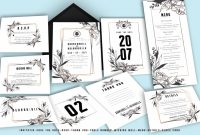 Wedding Card Size Template New Floral Modern Wedding Invitation Suite
