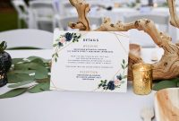 Wedding Hotel Information Card Template New Wedding Details Card Template Geometric Greenery Navy