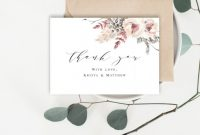 Wedding Place Card Template Free Word Awesome Thank You Cards Template Wedding Inserts 100 Editable Text