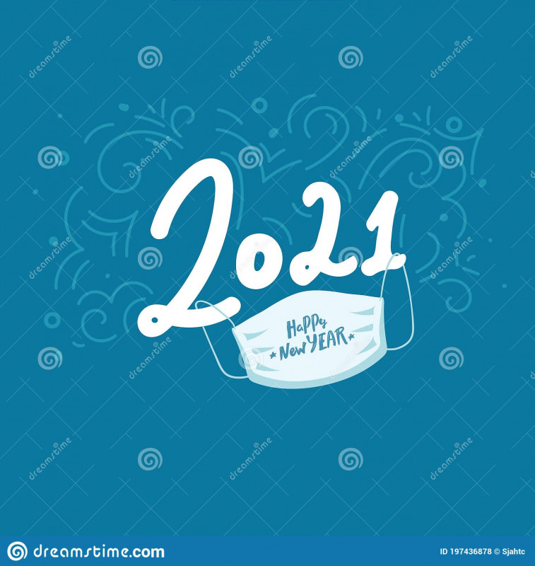 Happy New Year Card 2021 Awesome Happy Medical New Year Stock Illustrations 1885 Happy