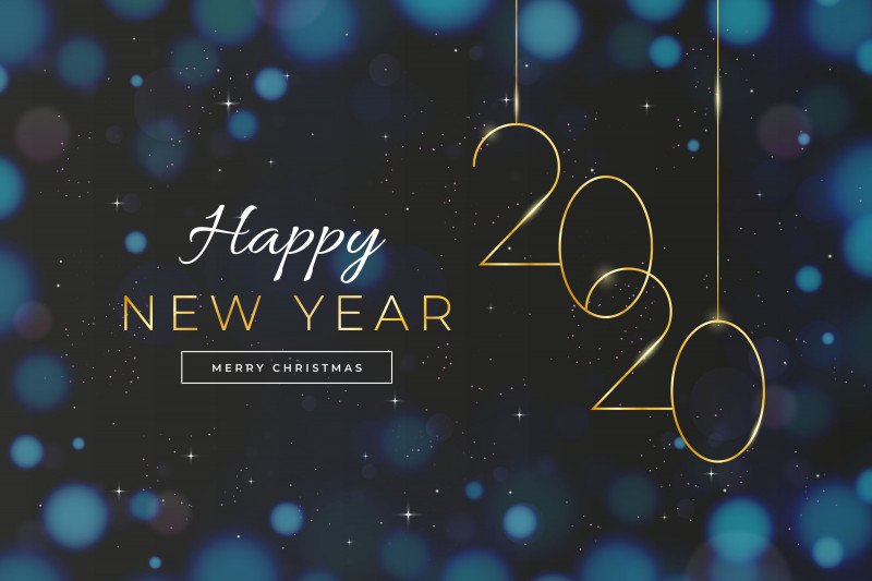 Happy New Year Card 2021 Awesome Happy New Year 2020 And Merry Christmas New Year 2020 New