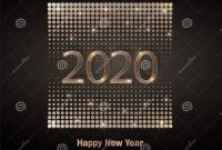 Happy New Year Card 2021 New Happy New Year 2020 Luxury Greeting Card Vector Stock
