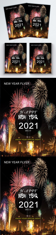 Happy New Year Card 2021 New Latest Outstanding 2021 New Year Flyer Template