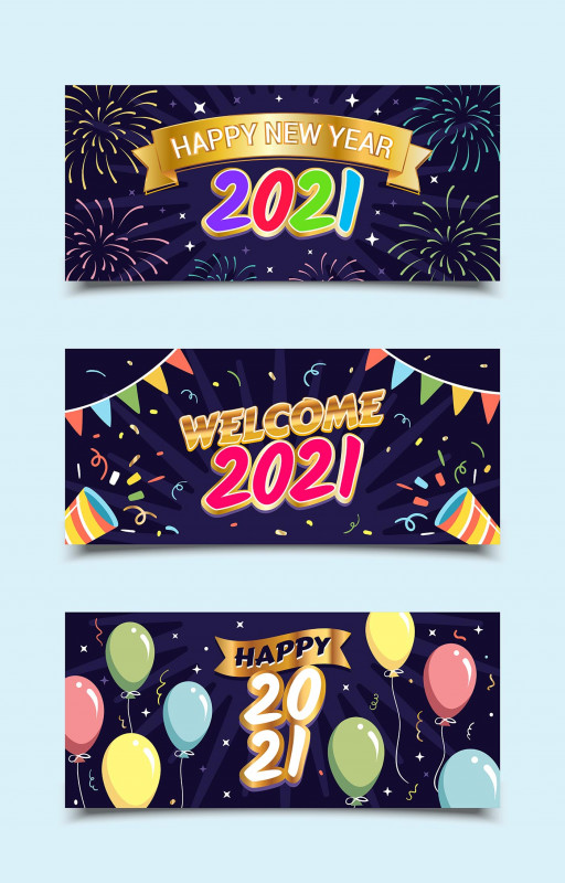 New Year Wishes And Messages For 2021 Unique Happy New Year 2021 Greetings Banner Templates Download