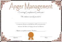 10 Anger Management Certificate Template Ideas | Certificate pertaining to Anger Management Certificate Template Free