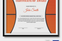 10 Basketball Sports Certificates | Certificate Templates inside 10 Sportsmanship Certificate Templates Free
